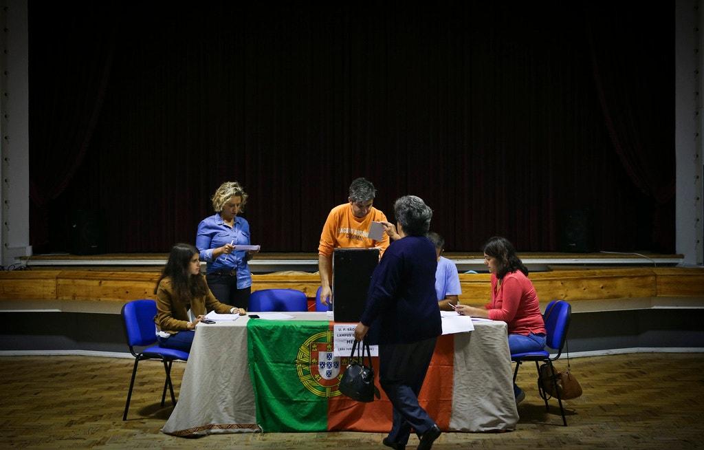 António Costa votou num clube recreativo de Sintra.