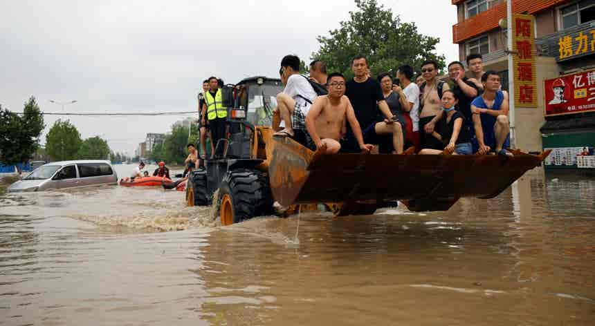 China. Resgatar vidas