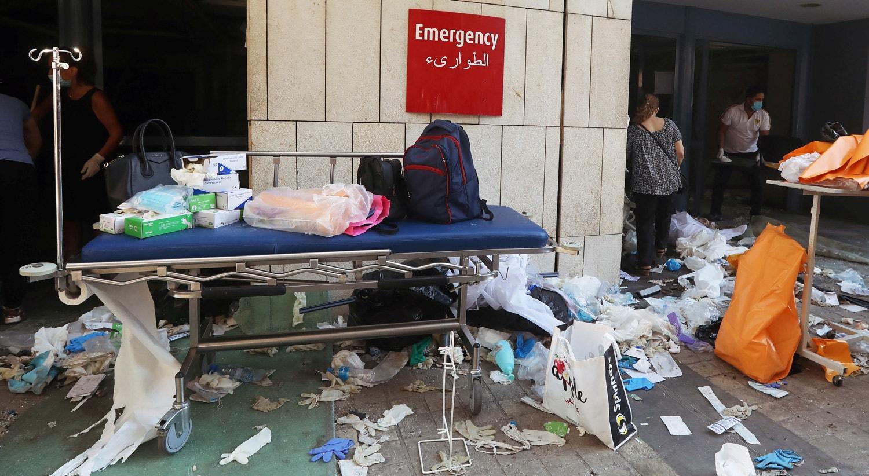 O elevado número de feridos levou a uma sobrelotação dos hospitais de Beirute   Mohamed Azakir - Reuters