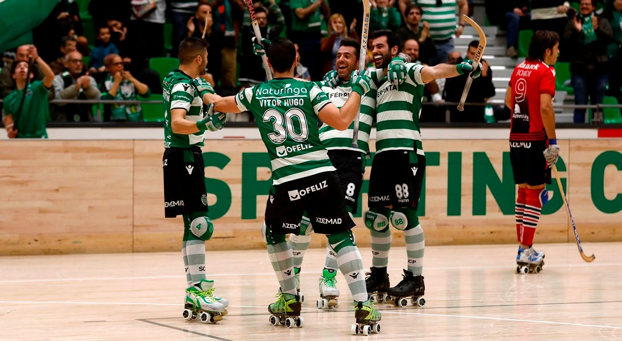 Sporting na final four da Liga Europeia de hóquei patins