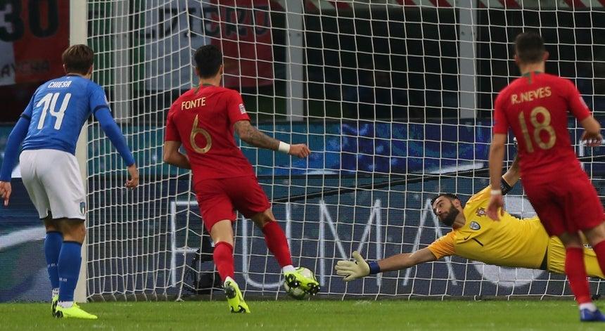 a5f9bf42f5 Portugal garantiu hoje a qualificação para a fase final da Liga das Nações  de futebol e pela primeira vez  sobreviveu  em jogos oficiais em Itália  (0-0)