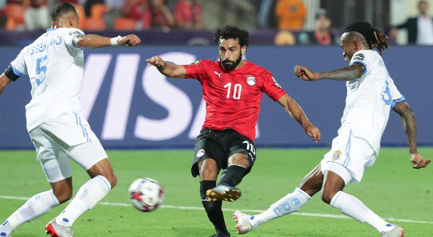Mohamed Salah esteve em destaque na seleção do Egito