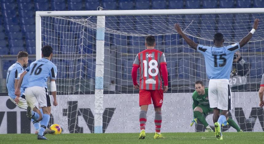 A Lazio goleou sem dificuldades a equipa da Cremonese