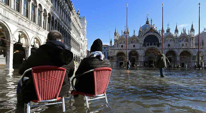 Praça de São Marcos inundada