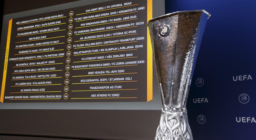 Os jogos da primeira mão da terceira pré-eliminatória da segunda competição europeia de clubes estão marcados para 8 de agosto