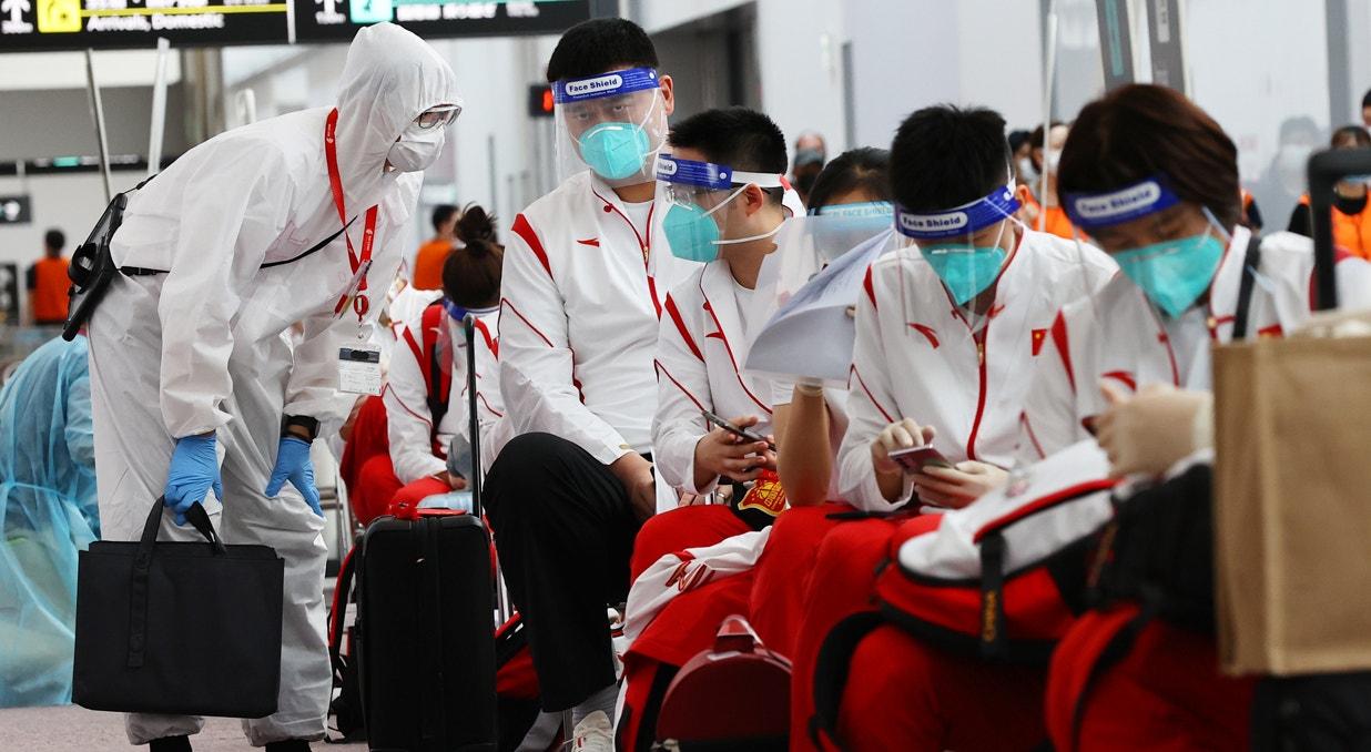 Chegada de atletas   Kim Kyung-Hoon - Reuters