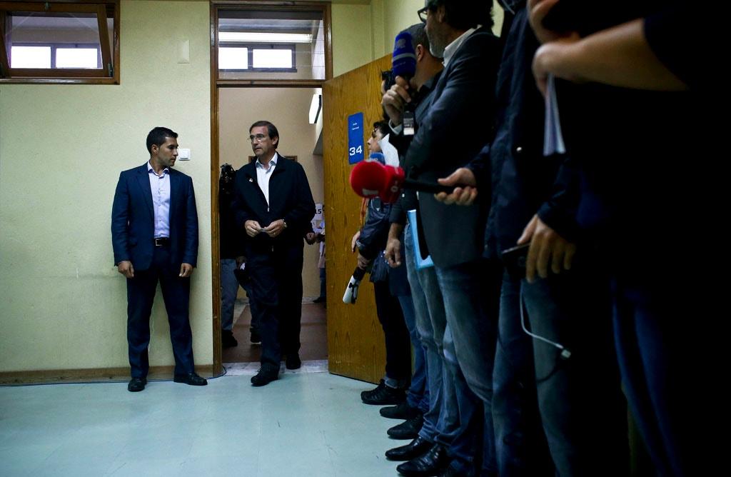 Pedro Passos Coelho votou em Massamá pouco depois das 9h00.