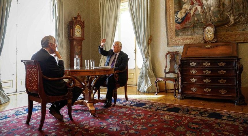 Presidente da República recebeu esta manhã o primeiro-ministro