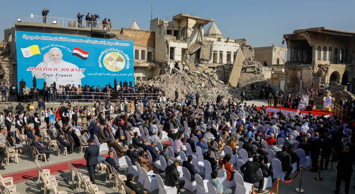 Mossul. Missa nas ruinas da Church Square | Khalid al-Mousily - Reuters