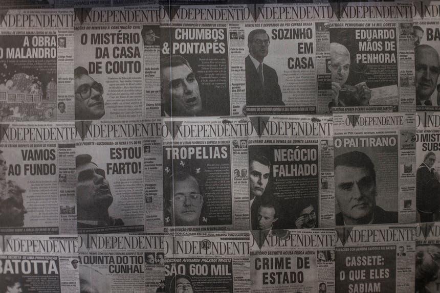 Livro sobre O Independente; Foto Pedro A.Pina - RTP