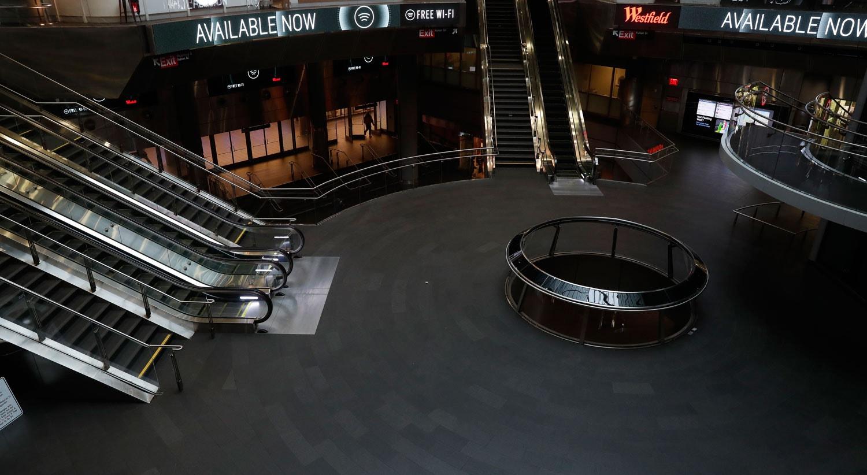 Estação de metro em hora de ponta praticamente vazia em Nova Iorque, EUA / Lucas Jackson - Reuters