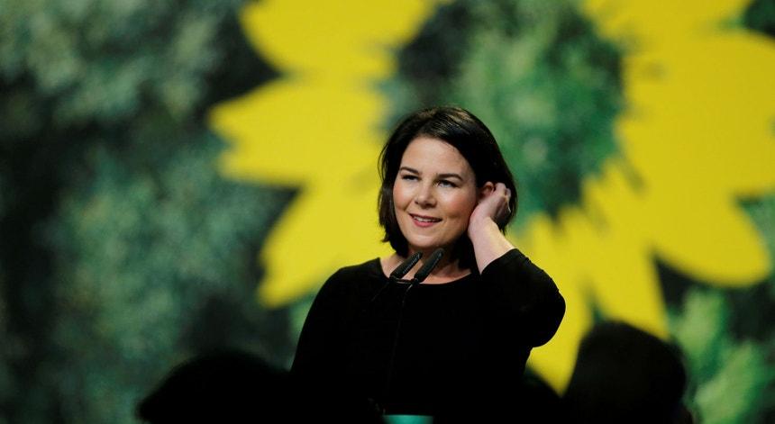 Annalena Baerbock, co-líder dos Verdes alemães, foi apresentada como a primeira candidata do partido ao cargo de chanceler em abril de 2021