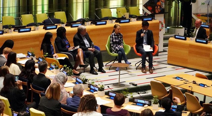 A anteceder a reunião de chefes de Estado e de governo com início na próxima segunda-feira, a sede da ONU recebeu a Cimeira da Ação Climática para a Juventude