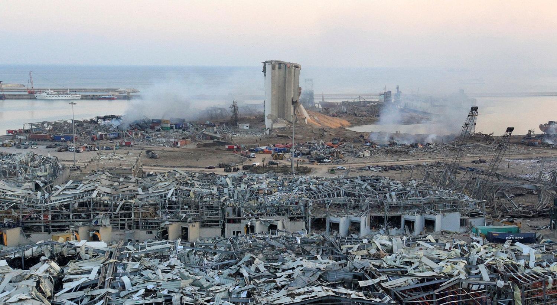 A explosão em Beirute foi sentida a 240 quilómetros de distância.   Aziz Taher - Reuters