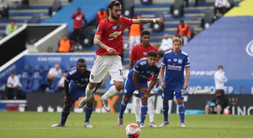 Bruno Fernandes eleito jogador do mês de julho em Inglaterra