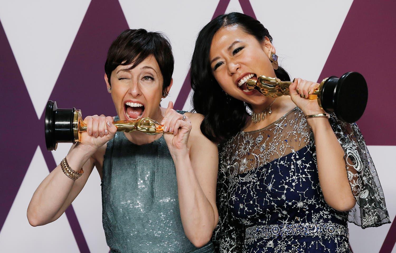 Domee Shi e Becky Neiman-Cobb /Mike Segar - Reuters