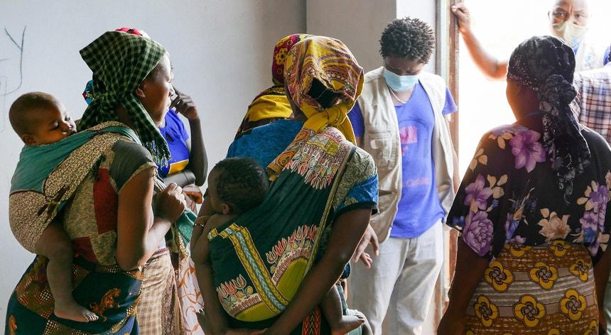 A crise humanitária é evidente no norte de Moçambique