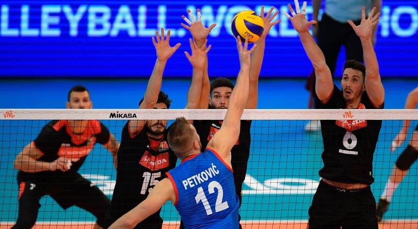 Jogo entre Portugal e Sérvia