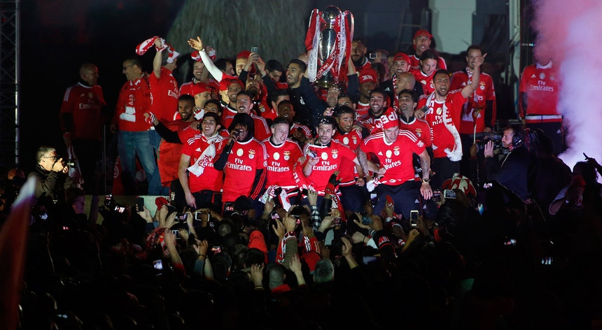 A festa celebrou o 35.º campeonato ganho pelo Benfica e o terceiro consecutivo