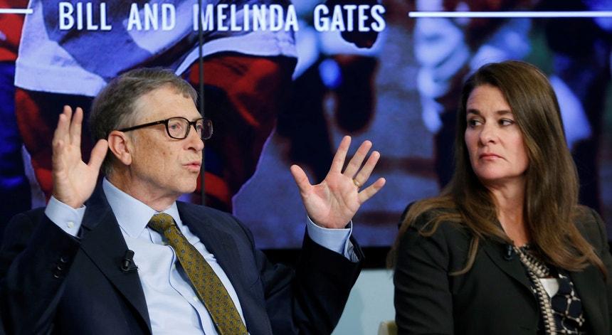 O casal Bill e Melinda Gates em Bruxelas, a 22 janeiro de 2015, durante o Fórum de debate sobre Objetivos de Desenvolvimento Sustentável 2013