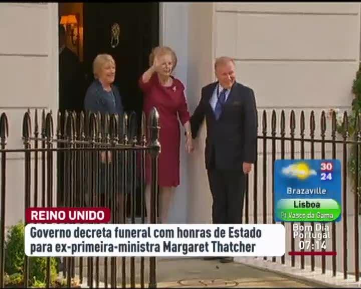 f3d5623d1c Decretado funeral com honras de Estado para Margaret Thatcher - Mundo - RTP  Notícias