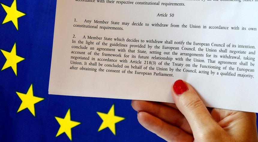 O artigo 50 que prevê o pedido de saída de qualquer estado-membro da União Europeia