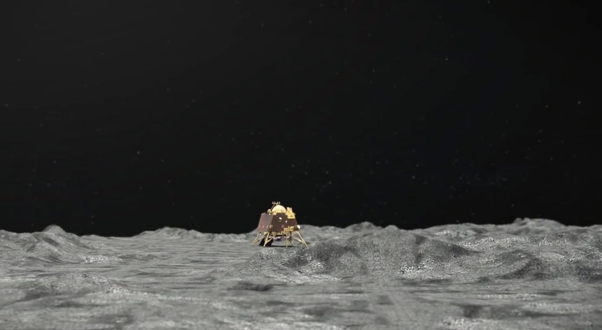 Sonda lunar Vikram da missão espacial indiana Chandrayaan-2