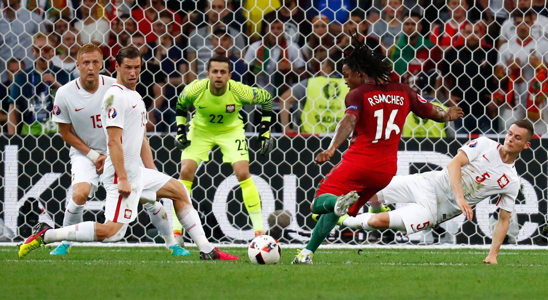 O primeiro golo pela seleção foi apontado à Polónia. É o golo que vale o empate a Portugal e que leva o jogo até às grandes penalidades.