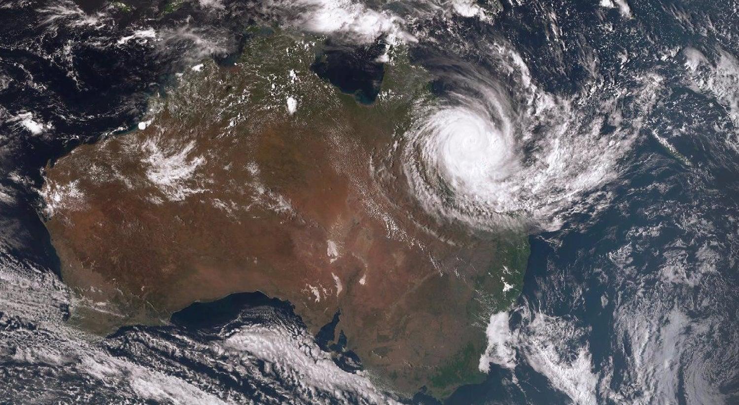 Resultado de imagem para ciclone debbie australia