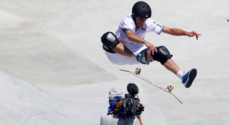 O americano, Cory Juneau, em ação na prova de Park.   Foto: Lisi Niesner - Reuters