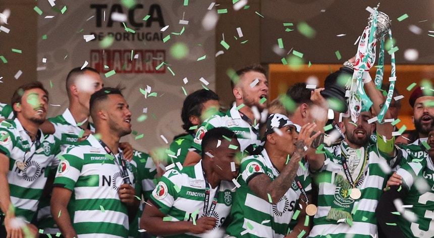 Sporting festeja conquista da 17.ª Taça de Portugal