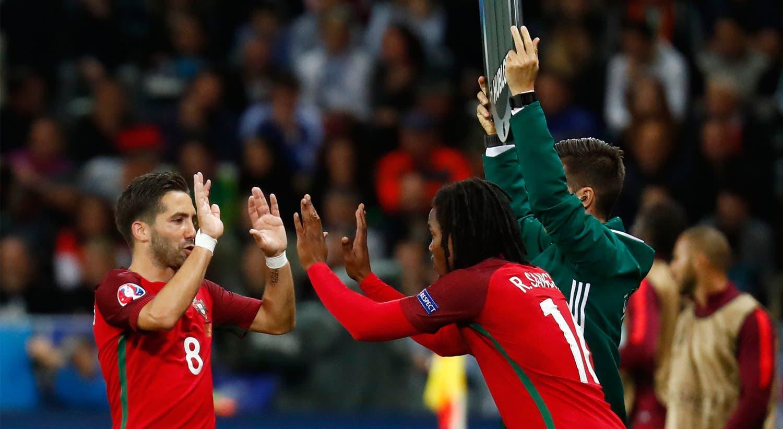 A estreia no Euro2016, frente à Islândia. Sanches entra ao minuto 71 e não consegue evitar o empate de Portugal.