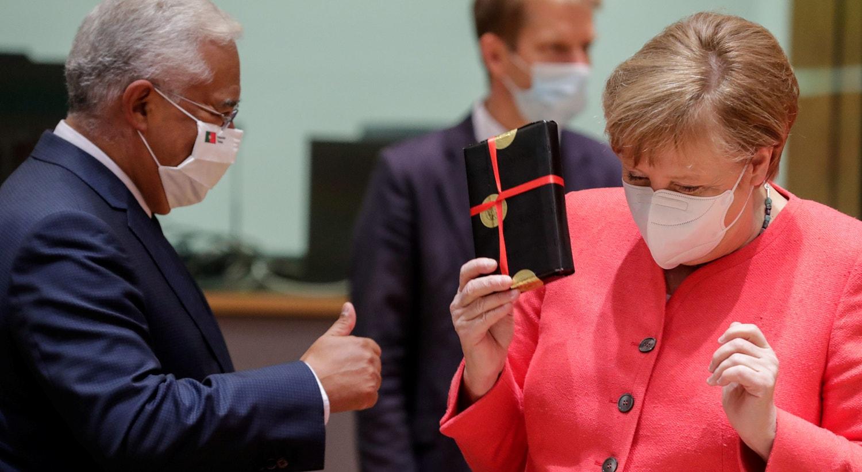 António Costa e Angela Merkel | Stephanie Lecocq - Reuters