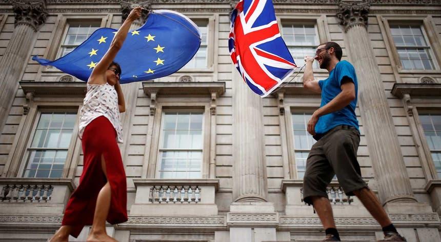 Imagem de arquivo de um protesto em Londres contra o Brexit