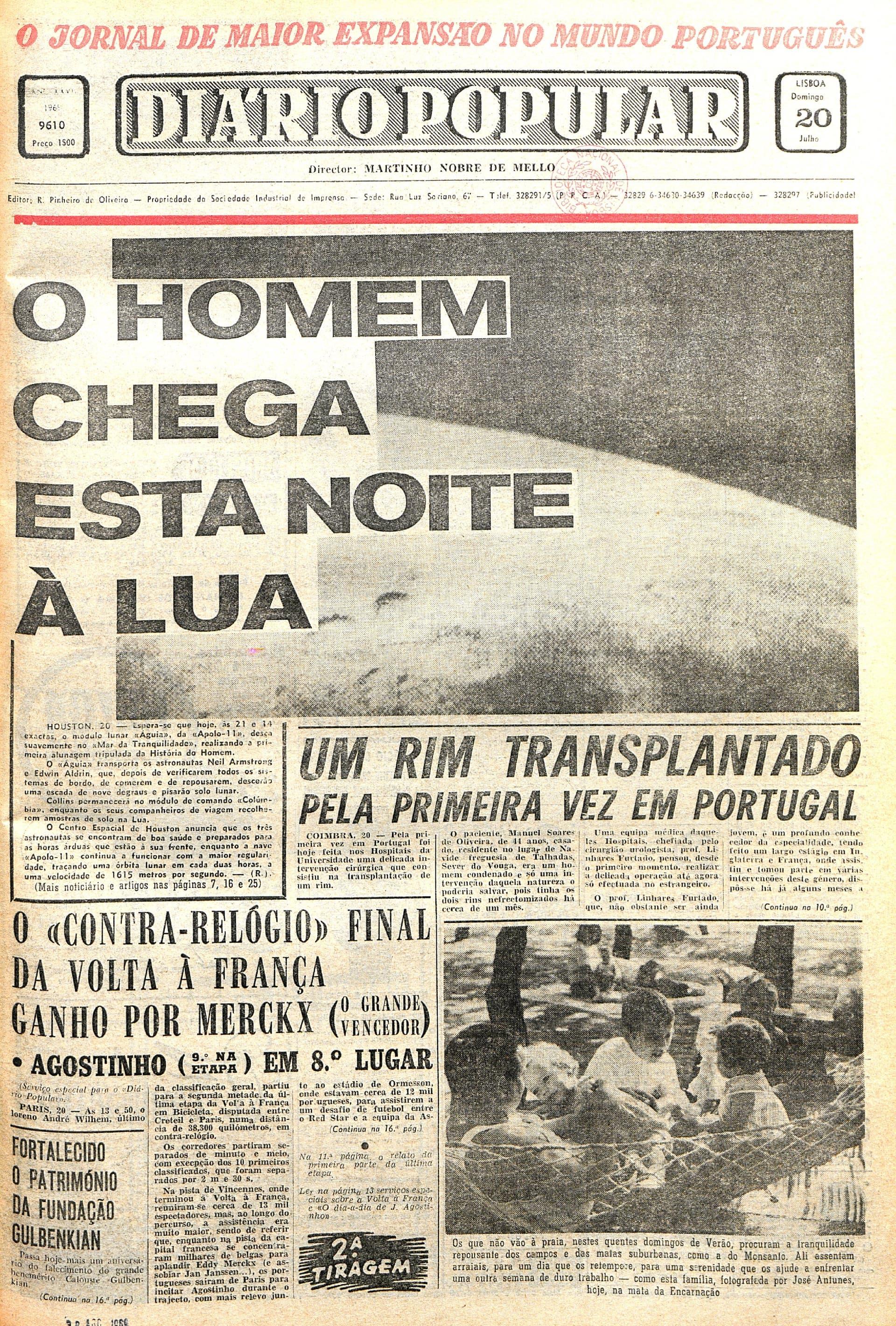 "Jornal ""Diário Popular"" (20 julho 1969)"