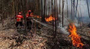 Incêndio na Peneda-Gerês continua a dar trabalho aos bombeiros