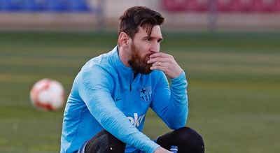 """""""Campions em Lisboa"""". Messi sem limitações no treino"""
