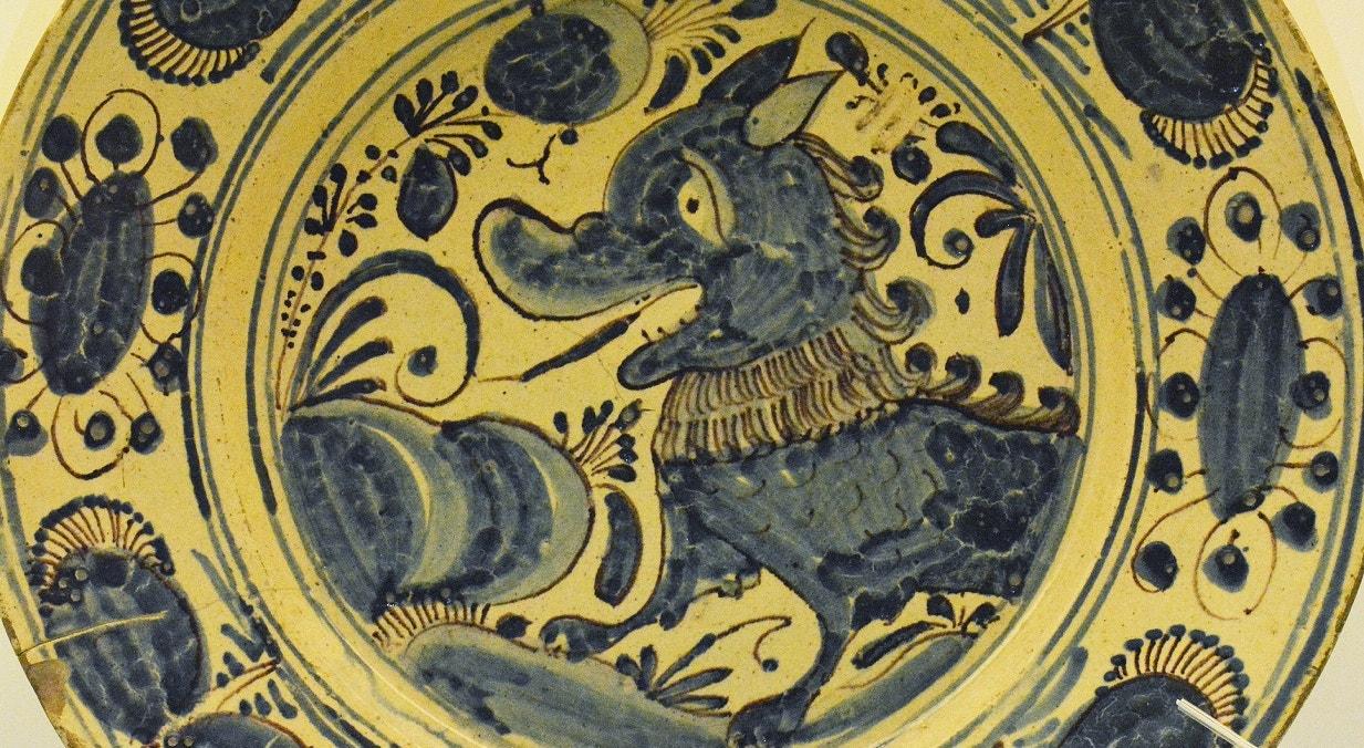 """Prato de """"Aranhões"""". Séc XVII"""