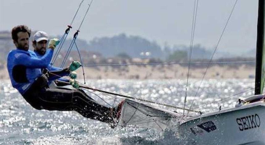 Jorge Lima e Jorge Costa viram adiada a regata do dia dos dos Mundiais de vela