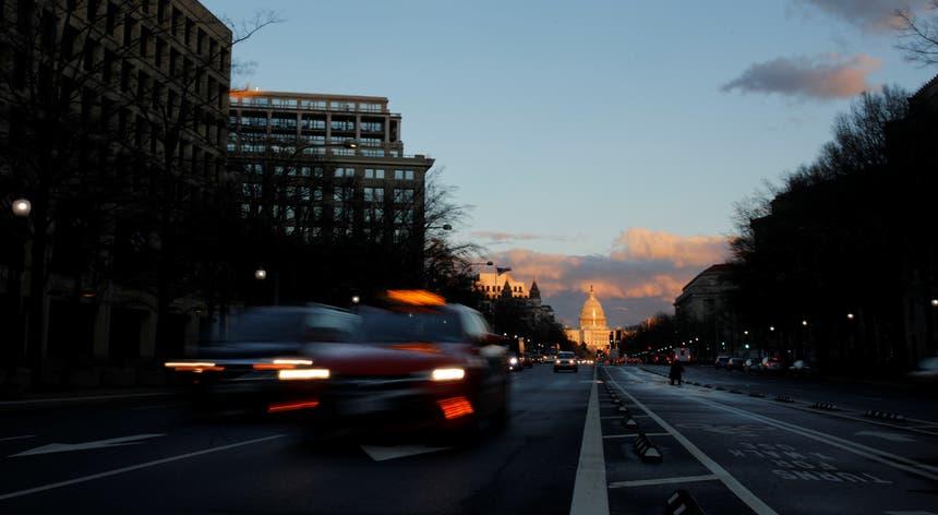 O Capitólio, em Washington, sede da Câmara dos Representantes e do Senado dos Estados Unidos