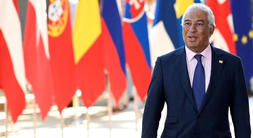 António Costa, primeiro-ministro de Portugal, à chegada à Cimeira dos líderes da União Europeia em Bruxelas, a 2 de julho de 2019