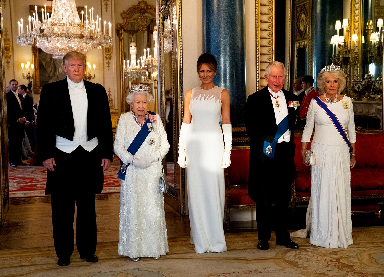 Isabel II ofereceu um banquete de Estado ao Presidente dos Estados no Palácio de Buckingham /Jeff Gilbert - Reuters