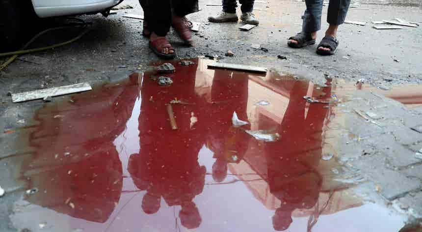 Dos bombardeamentos em Gaza