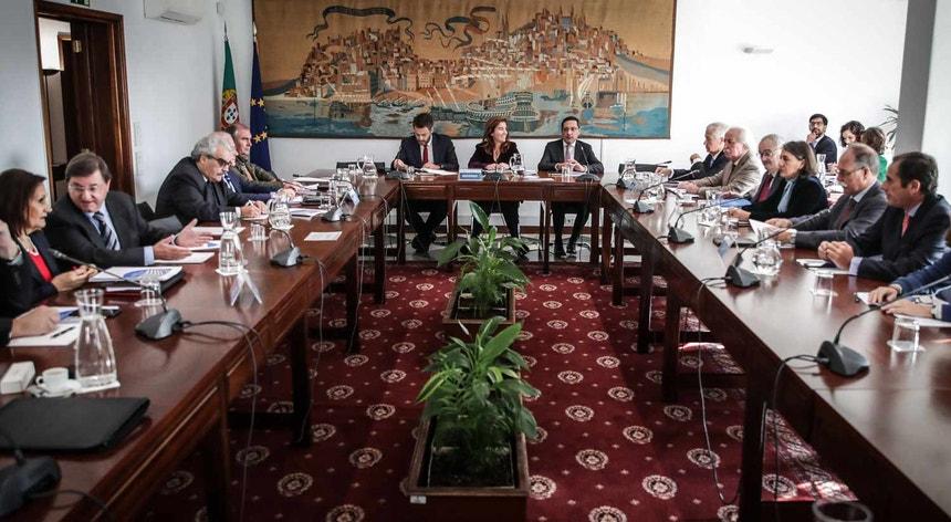 A ministra do Trabalho, Solidariedade e Segurança Social, Ana Mendes Godinho, na reunião da Comissão Permanente de Concertação Social, em Lisboa