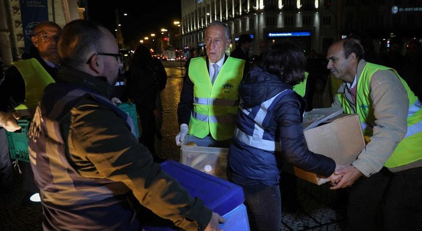 Marcelo foi à rua perceber a actual situação dos sem-abrigo