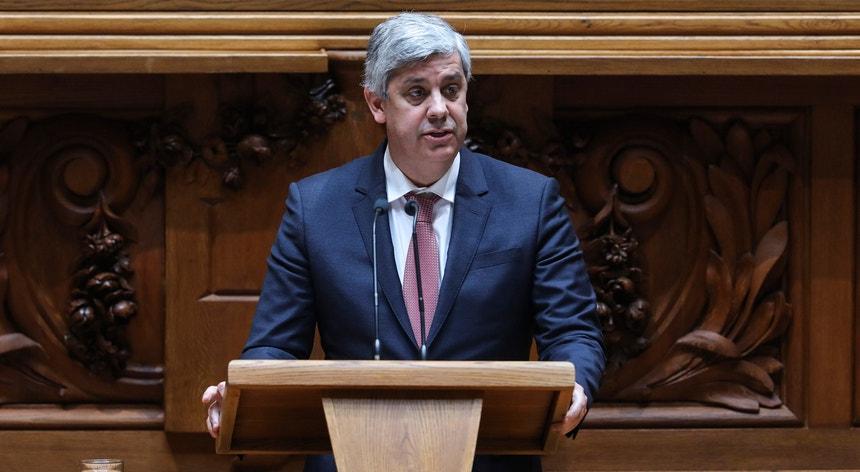 O ministro das Finanças, Mário Centeno, na intervenção final do debate parlamentar