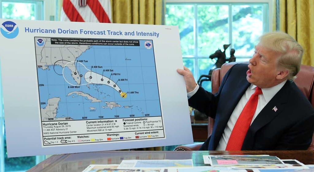 Dorian. Trump explica o trajeto do furacão