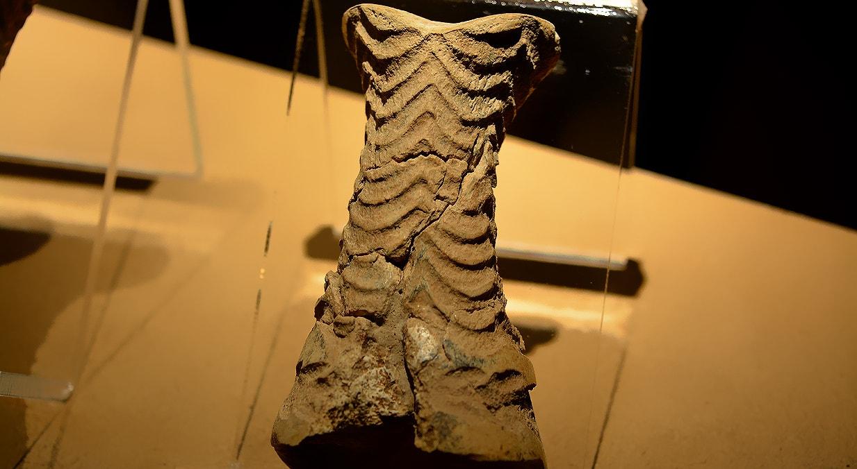 Ídolo falange, osso, 2800-2450 a.C., Perdigões, Reguengos de Monsaraz   Carla Quirino - RTP