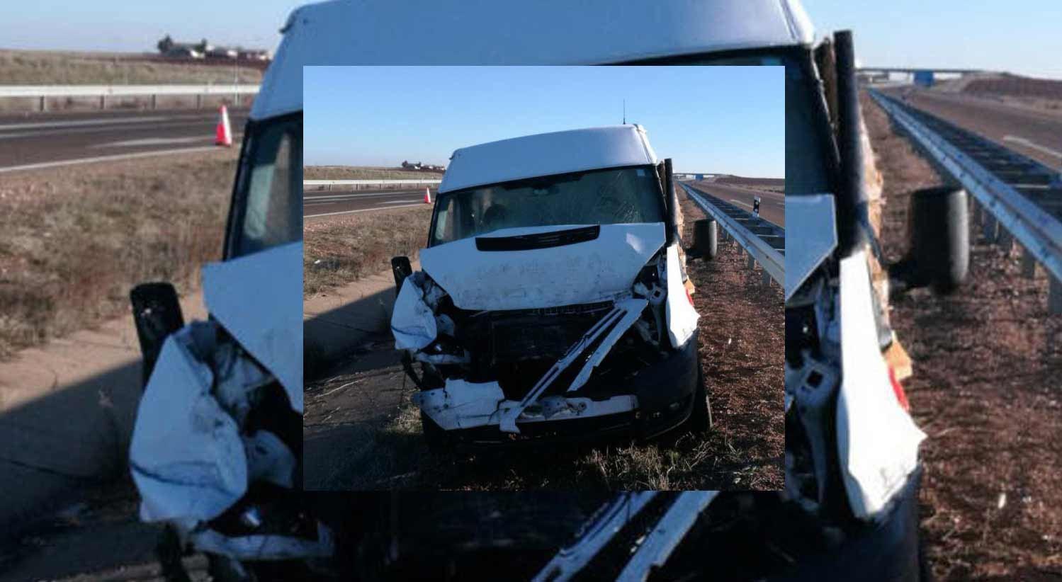Um morto e sete feridos em acidente com camioneta portuguesa em Salamanca