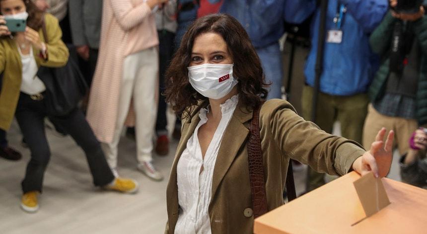 Isabel Díaz Ayuso, candidata do Partido Popular à Comunidade de Madrid